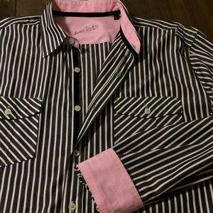Arnold Zimberg Shirts - Arnold Zimberg Long Sleeve Striped Shirt